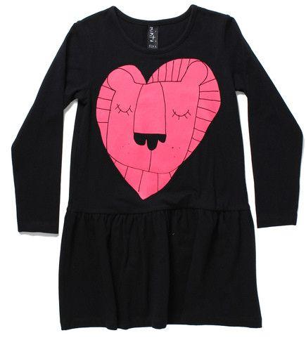 Minti Dress Lion Heart Black