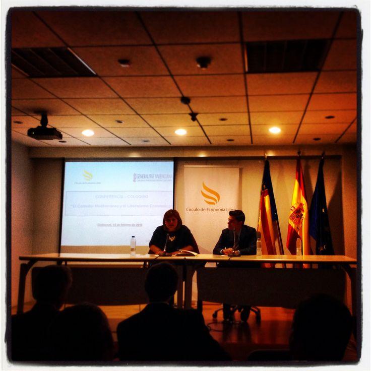 """""""Corredor Mediterráneo y Liberalismo Económico"""", con Isabel Bonig."""