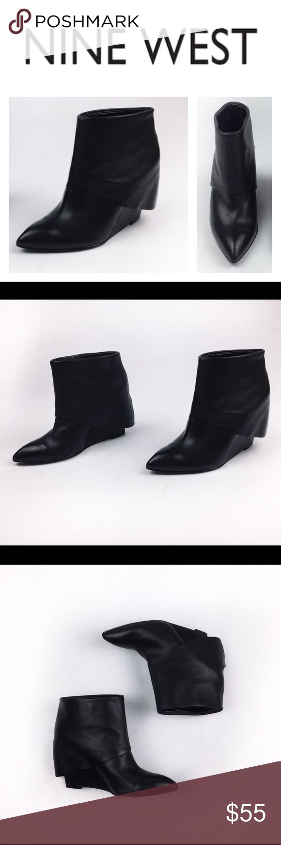 NINE WEST LEATHER ANKLE BOOTS W SLEEVE DETAIL SZ6M Divine and super chic Nine West black leather ankle boot with sleeve detail in sz6M. Brand new, never worn, excellent look! Comes without a box so might have some handling signs please look at pics. These are perfect to wear with all types of jeans or some boho chic dress! Love them? Make an offer! Questions? Ask me 💖😉 Nine West Shoes Ankle Boots & Booties