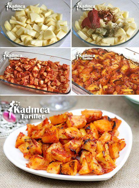 FIRINDA SOSLU PATATES TARİFİ  http://kadincatarifler.com/firinda-soslu-patates-tarifi