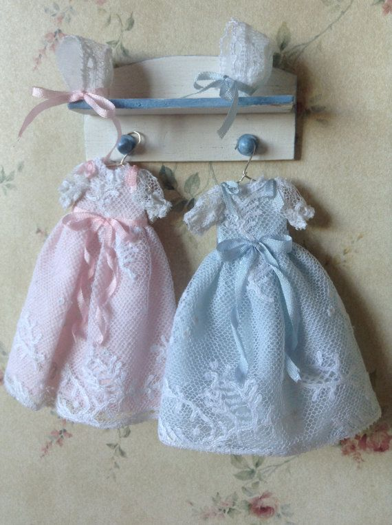 Dollhouse clothes 1/12 baby christening