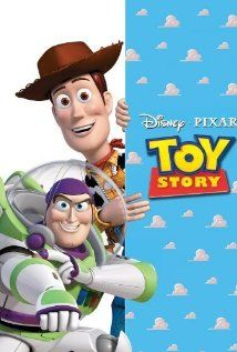 *TOY STORY, 1995: A cowboy doll is profoundly threatened + jealous when a new spaceman figure supplants him as top toy in a boy's room.  Starring: Tom Hanks, Tim Allen, Don Rickles.