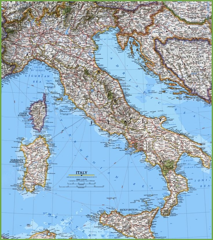 The Best Detailed Map Of Italy Ideas On Pinterest Earth View - Physical map of italy
