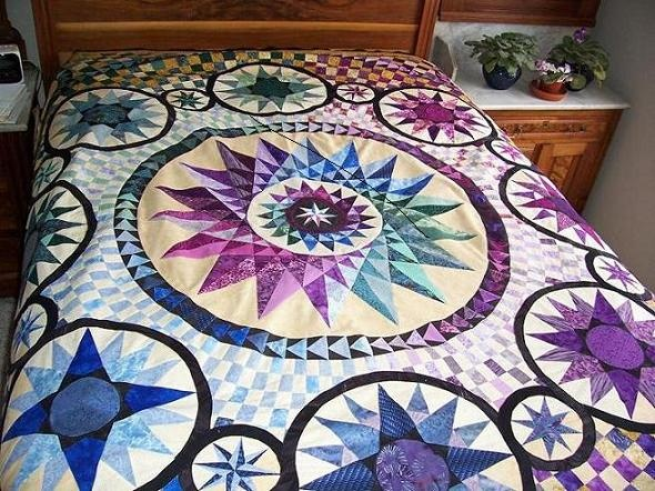 40 Best Stars And Circles Images On Pinterest Quilt Patterns Extraordinary Mariners Compass Quilt Pattern