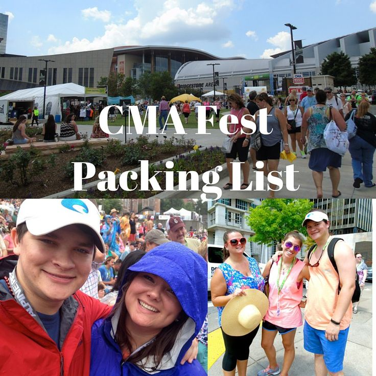 CMA Fest Packing List