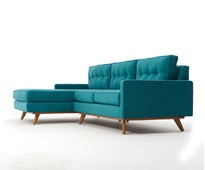 Gorgeous teal mid century sectional sofa