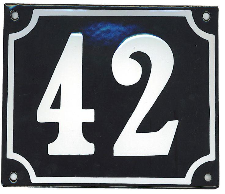 Huisnummerbord groot