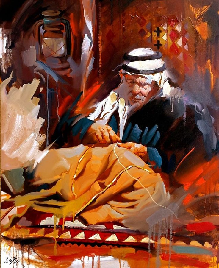 A gorgeous painting by Iraqi painter ALI NEMAH