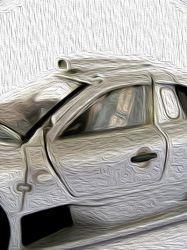 Un vecchio modellino di Mercedes Benz