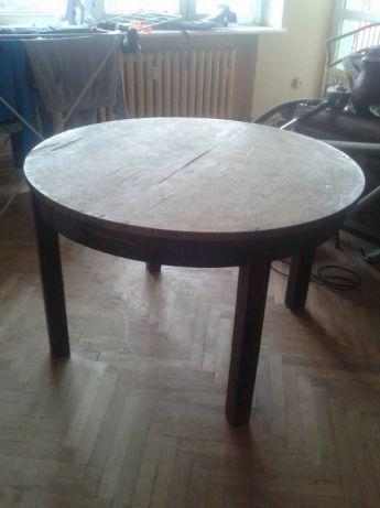 Sprzedam Drewniany Stół Rozkładany Stół Jest Okrągły 4 Osobowy Po