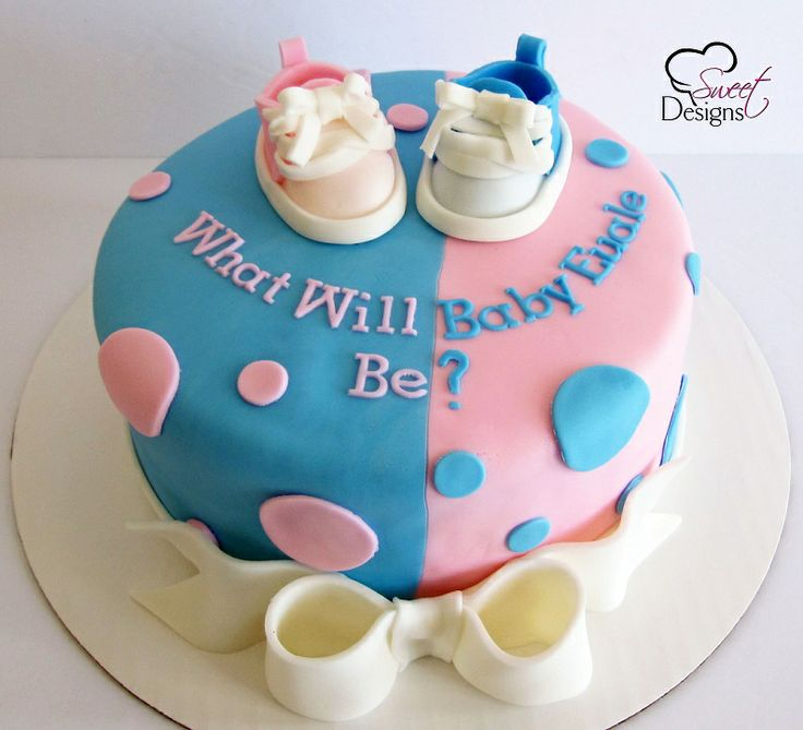 Cake Ideas For Baby Reveal Party : Baby Gender Reveal Cake with Baby Shoes Party Cakes ...