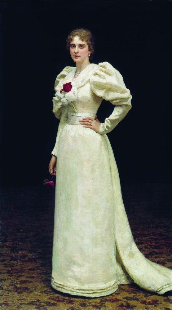 Portrait of L P Shteyngel by Ilya Repin, 1895 Russia
