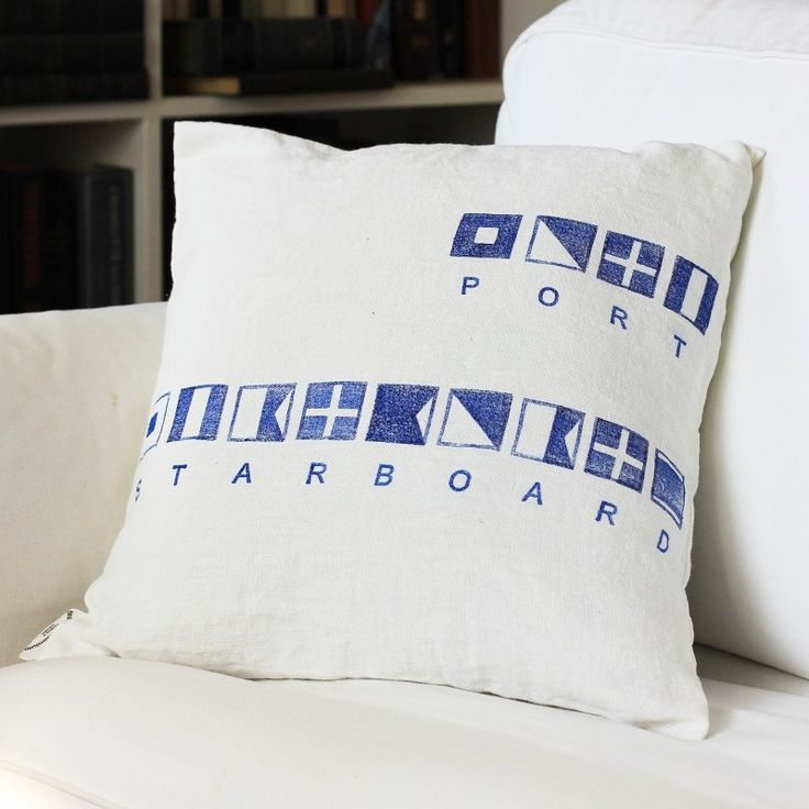 linen pillow cases - Special orders with your name or short motto spelled out with signal flags
