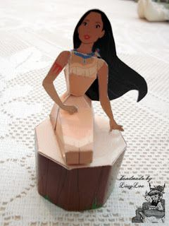 Handmade by Lissy Lou: Disney Princess 3D Paper Doll - Pocahontas