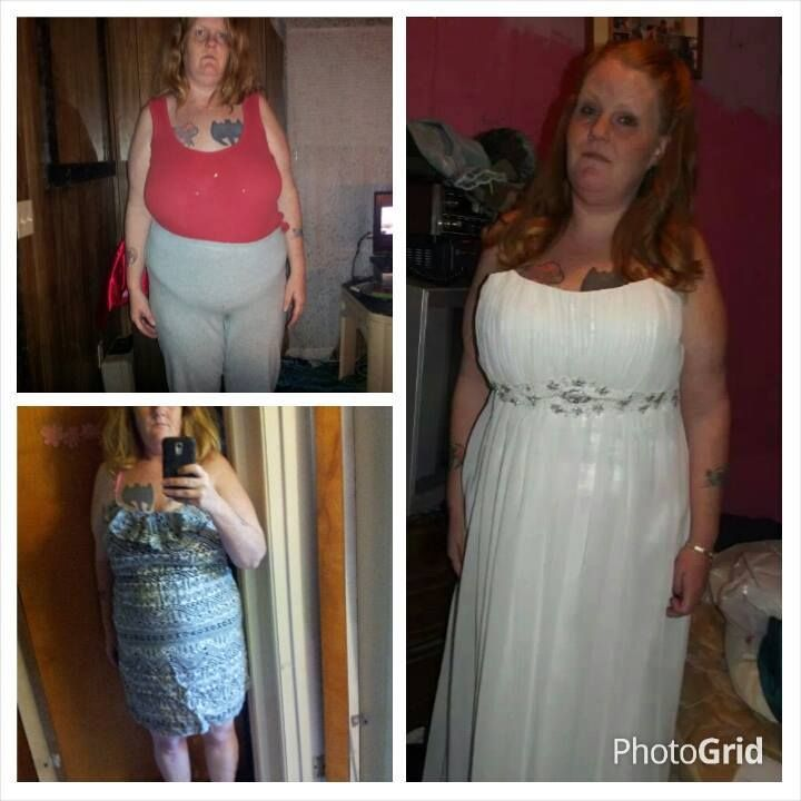 """Royann Said: """"Top left was the start of my Skinny Fiber journey. Bottom left was after one month. The right side was taken Friday. 43 pounds GONE and still losing weight! I haven't changed my diet much, and the only exercise I have been doing since October is working. Yes, Skinny Fiber does work! I have finally gotten past the point of where I would get stuck at. I am still losing weight and getting closer and closer to my goal! I love my Skinny Fiber!"""" Order here: www.winwithmtee.com"""