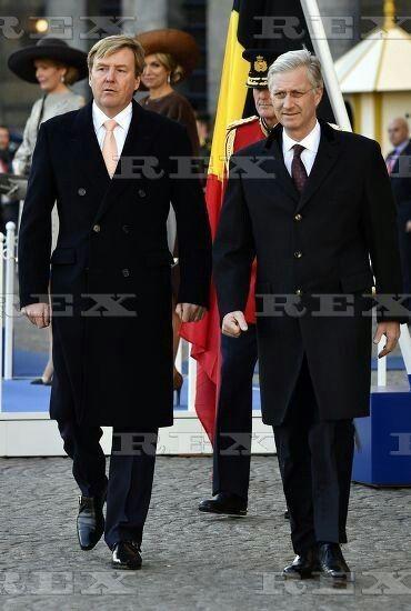 Belgian royals visit to The Netherlands - 28 Nov 2016 King Philippe, King Willem-Alexander 28 Nov 2016