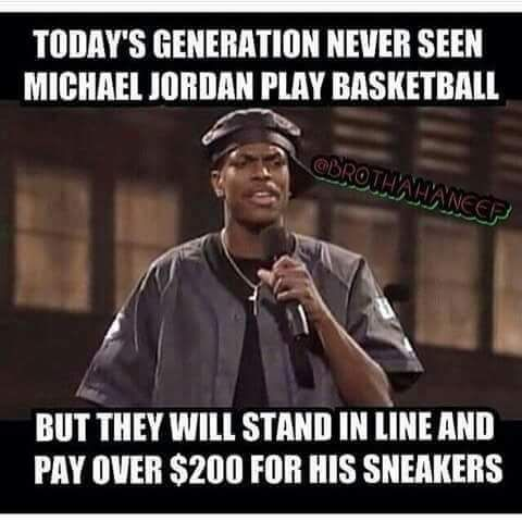 Chris Tucker Air Jordan shoes joke.