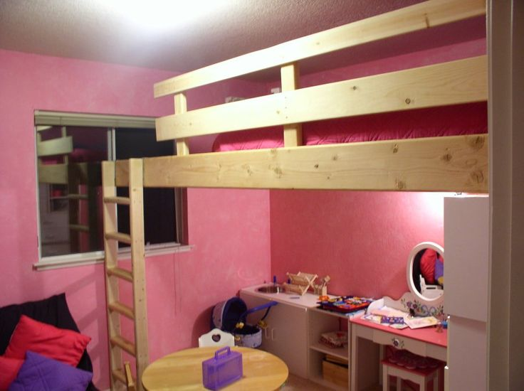 26 best images about loft for joe on pinterest loft bed plans queen size and captains bed - Beds attached to the wall ...