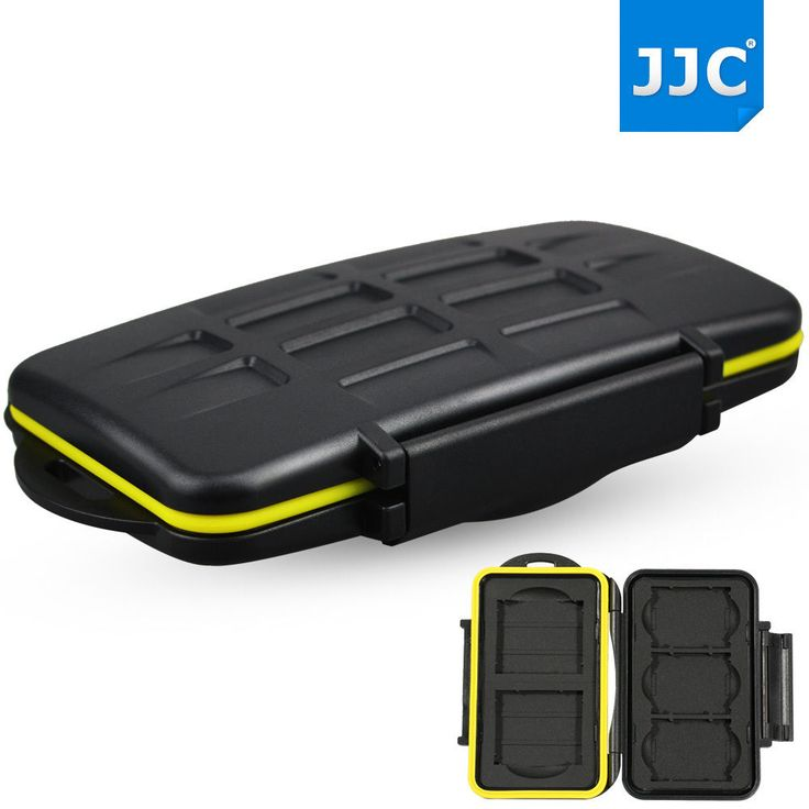 JJC Water-resistant Storage Memory Card Case Protector For 3 XQD + 2 CF Cards #JJC