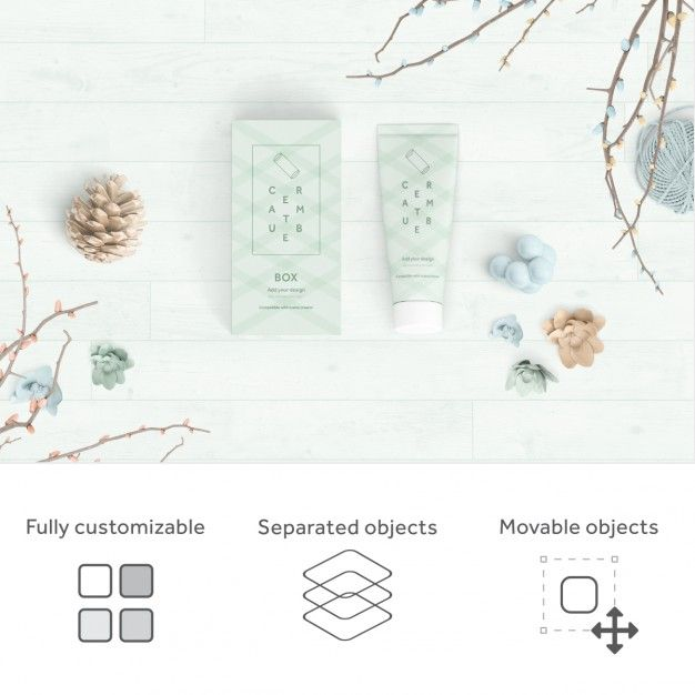 Realistic packaging mock up Free Psd