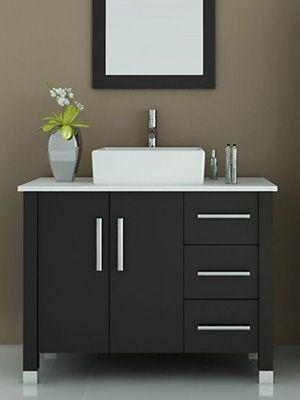 29 best basins top mounted images on pinterest bathroom for Levi 29 5 single modern bathroom vanity set