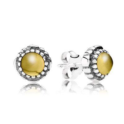 Capri Jewelers Arizona ~ www.caprijewelersaz.com PANDORA citrine stud earrings - the birthstone of November. $50