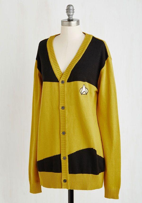 Star Trek TNG Uniform Cardigans For Starfleet Casual Fridays