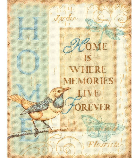 Dimensions home memories counted cross stitch kit for Jo ann fabrics and crafts cherry hill nj