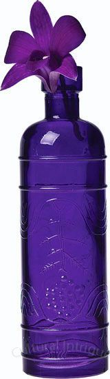 Purple Round Decorative Glass Bottles - CG77J    I just love Purple!!!!!!! Great site to order online.