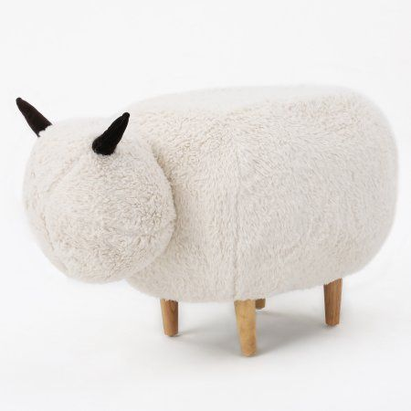 Free Shipping. Buy Perry White Velvet Sheep Ottoman at Walmart.com