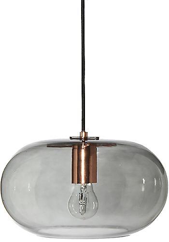 lampa wisząca szkło przydymione