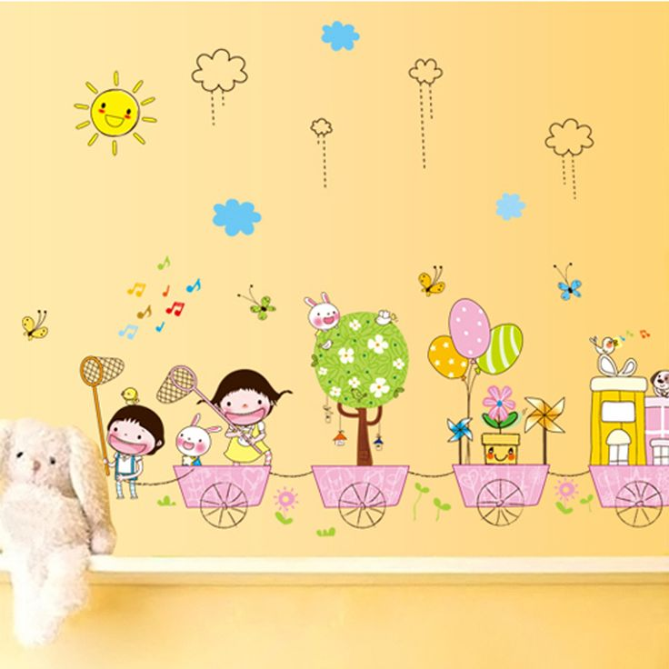 Cute-Cartoon-Baby-Tree-Flower-font-b-Sun-b-font-Clounds-Wall-Stickers-Kid-s-Room.jpg (800×800)