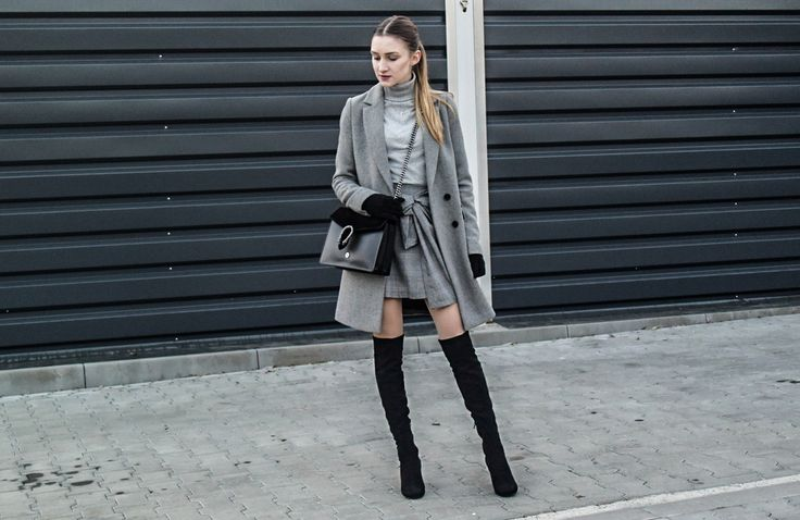 grey look, mini, over the knee, style, street style, street fashion, ootd, look, style, inspiration, bloger, fashionist, stylist,