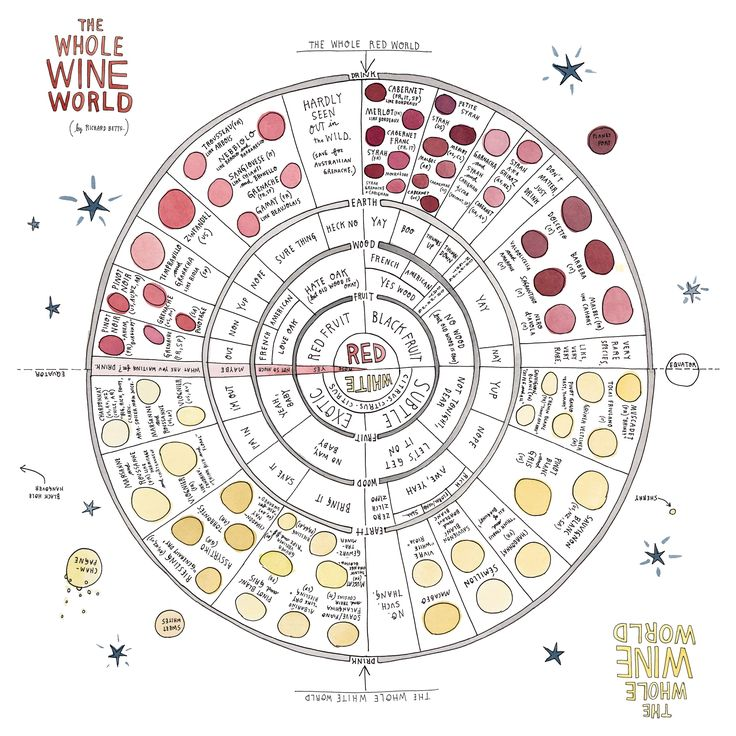 This chart will help you find a wine you'll really like