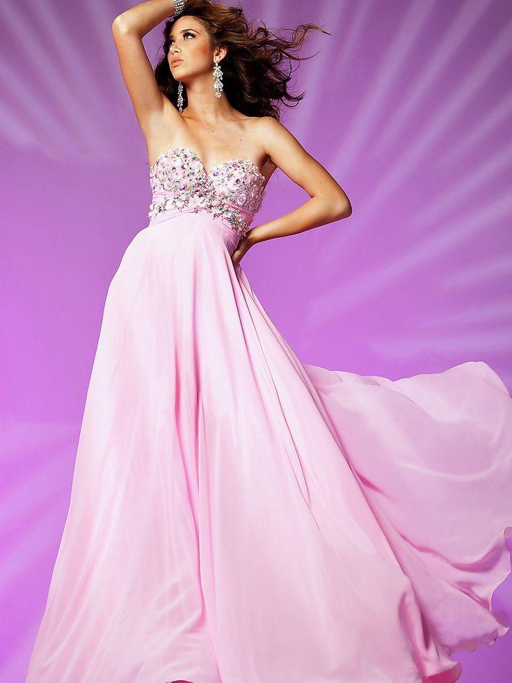 15 best Pink Wedding Dress images on Pinterest | Ballroom dress ...