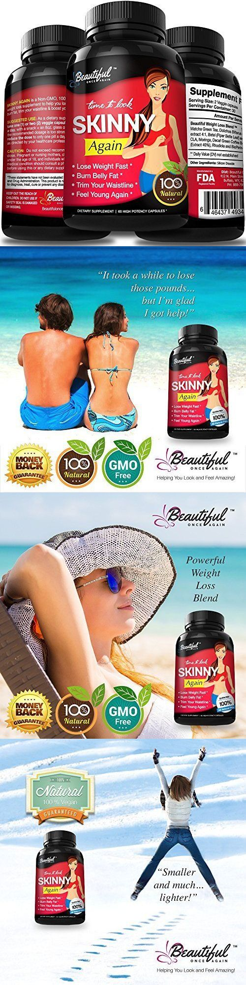 Appetite Control Suppressants: Diet Pills Skinny Again, Lose Belly Fat Fast 100% Natural, Non-Gmo, Gluten Free BUY IT NOW ONLY: $51.02