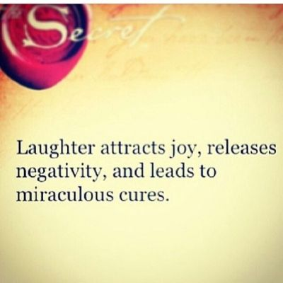 #Laughter is the best medicine.