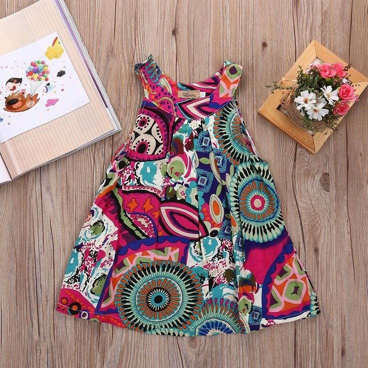 US STOCK Toddler Kids Baby Girls Summer Floral Dress Party Pageant Dresses #Unbranded #Casual