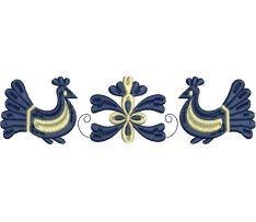 Výšivka Trenčianská Teplá - vtáčiky, 19x5 cm