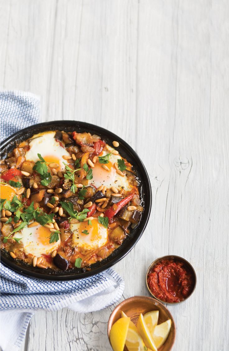 Spicy Eggplant and Egg Tagine Recipe | Vegetarian Times