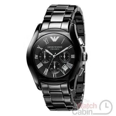Emporio Armani AR1400 Men's Valente Ceramica Ceramic Chronograph Watch