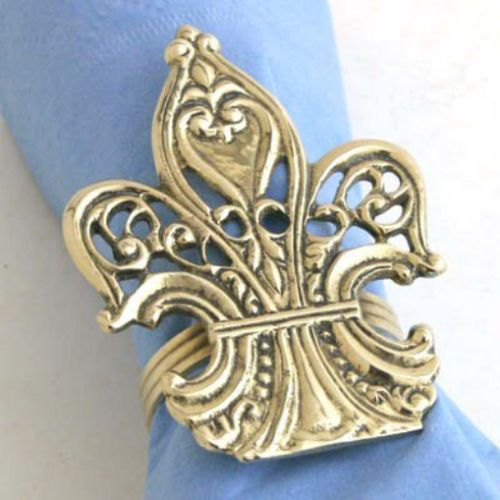 Napkin Rings and Holders 20658: Brass Victorian Fleur De Lis Napkin Ring. - Set Of 4 -> BUY IT NOW ONLY: $34.3 on eBay!