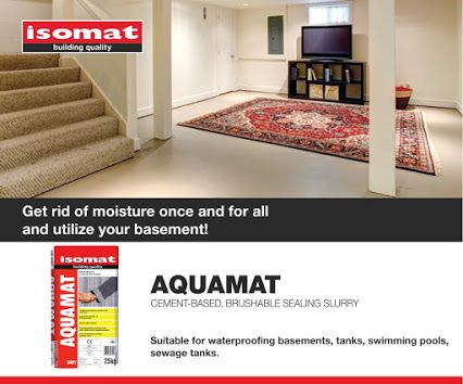 Do you want to utilize your basement and turn it into a comfortable playroom, your personal gym or a tidy storage space, but you are discouraged by the intense moisture? Moisture problems are the owners' and tenants' constant headache, as most of the time they seem complicated and hard to solve. Don't lose hope, though! AQUAMAT, ISOMAT's brushable sealing slurry, will help you get rid of moisture once and for all, and thus, use your basement the way you desire!