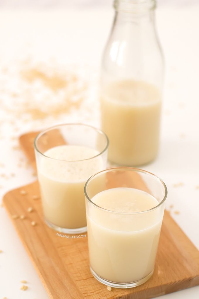 You only need rice, water and your favorite sweetener to make this delicious rice milk. It's ready in 5 minutes!