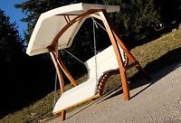 Hollywoodschaukel Gartenschaukel Hollywoodliege Doppelliege Holz Lärche ARUBA
