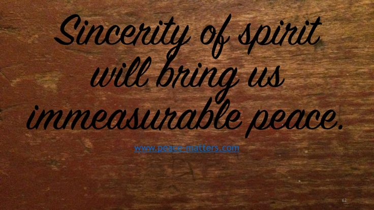 Peace Matters Quote ~ A blog by Dan Weaver-White