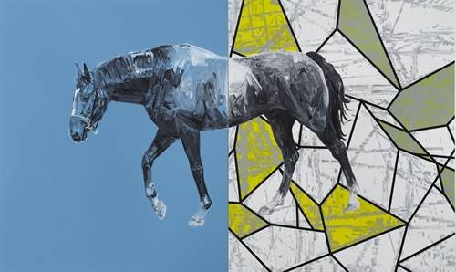 """From the exhibition """"Sidetracks: Painting in the Paramodern Continuum"""" at Stavanger Art Museum. Photo: Stavanger Art Museum."""