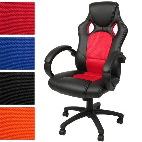 Delightful Red And Black Office Chair