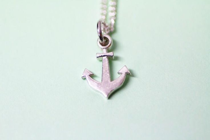 Anchor sterling silver pendant by FrankieAndCoNZ on Etsy