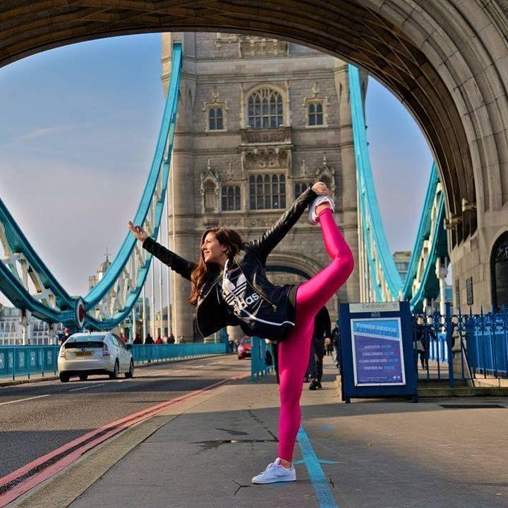 The amazing Katerina Portokalaki rocking her #PCPleggings on the #LondonTowerBridge ❤️